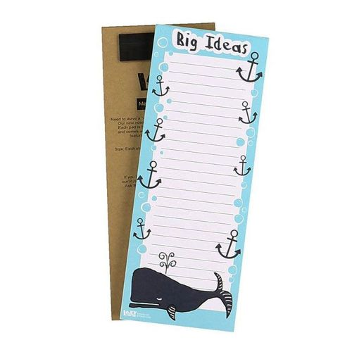 Big Ideas Whale Magnetic Notepad - Lazy One®